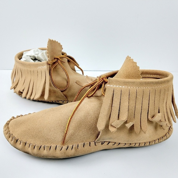 372d711b53949 Taos Footwear Shoes | Vintage Taos Handcrafted Fringed Moccasins 8 ...